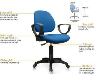 Kết quả hình ảnh cho cấu tạo ghế xoay giá rẻ