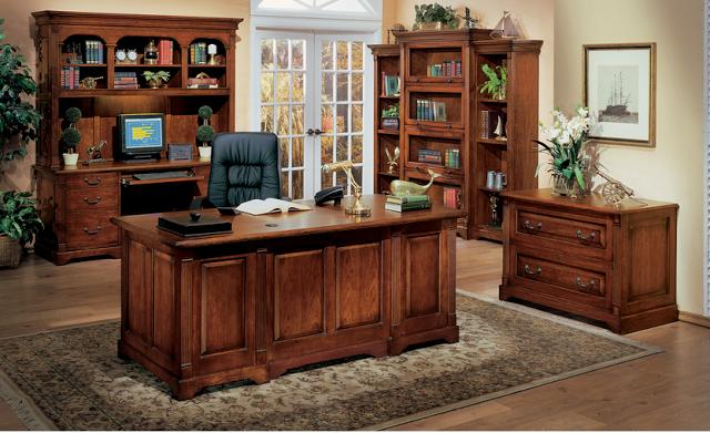 Bộ bàn tủ giám đốc với màu sắc và họa tiết đường vân gỗ độc đáo