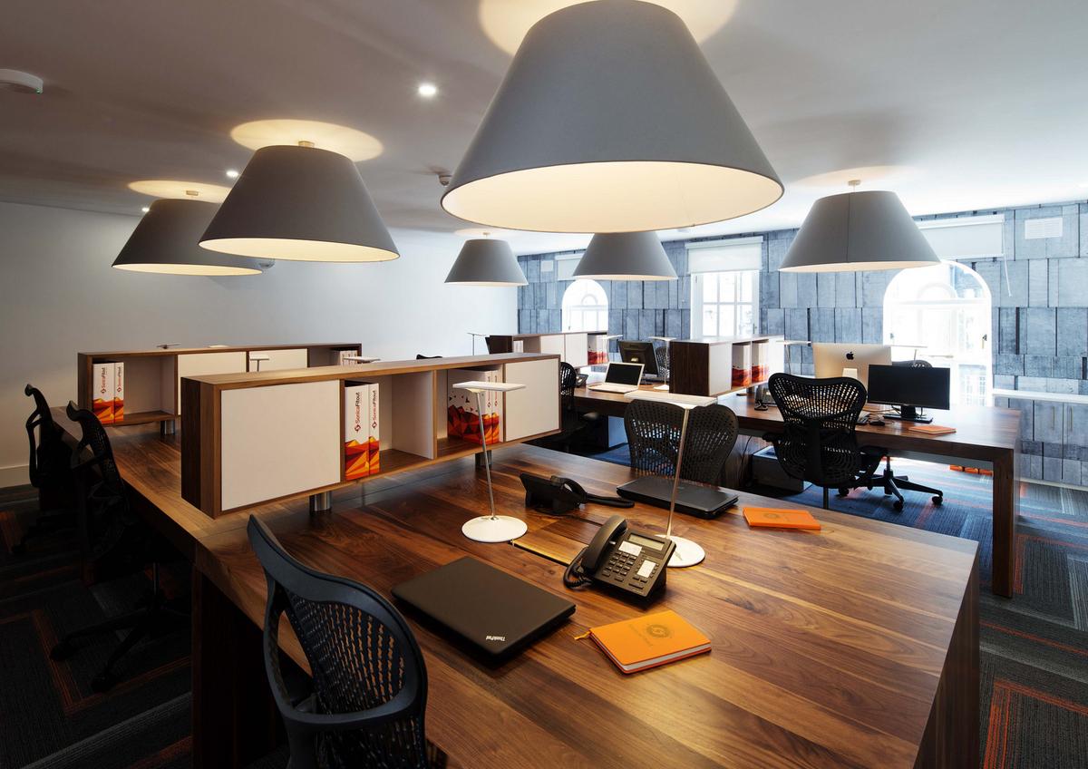 Corporate Office Lighting Idea