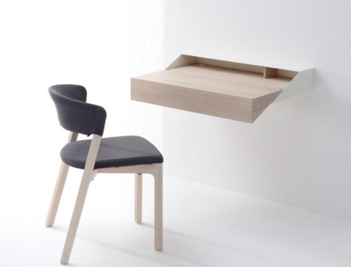 thi t k b n l m vi c treo t ng p ti n l i. Black Bedroom Furniture Sets. Home Design Ideas
