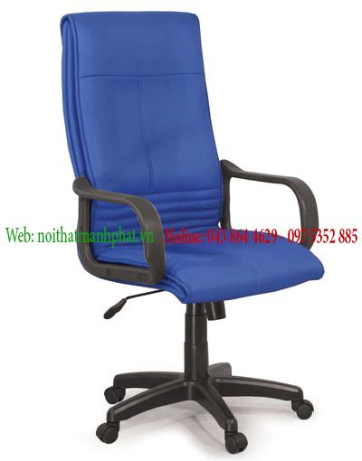 Ghế da văn phòng - dành cho trưởng phòng , màu xanh dương GX14B