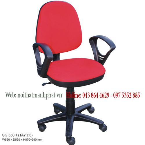 ghế xoay văn phòng SG550 màu đỏ