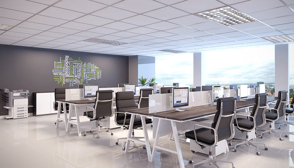 Lựa chọn nội thất văn phòng giá rẻ tại Hà Nội theo không gian